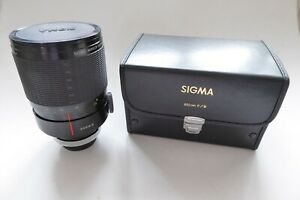 Sigma 600mm F8 Mirror Telephoto Lens Canon FD Mount Manual Focus