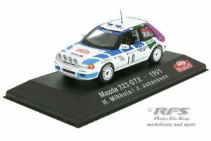 Mazda 323 GTX  Rallye Monte Carlo 1991  Hannu Mikkola  1:43 Atlas Collection NEU