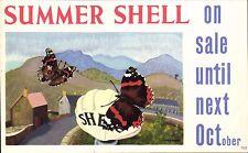 Advertising. Shell-Mex & BP Ltd. Summer Shell. Butterflies by Cedric Morris.
