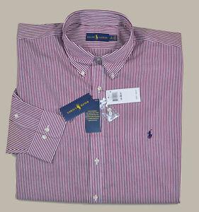 New 3XLT 3XL TALL 19 36/37  RALPH LAUREN Mens button down Dress Shirt Red top