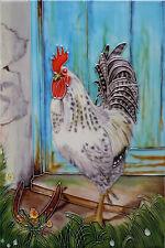 """Lucky coq céramiques décoratives mur de cuisine tuile photo art nouveau 8x12 """" 05252"""