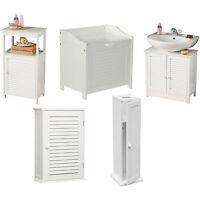 White Wood Bathroom Furniture Wall Shelves Under Sink Storage Laundry Cabinet