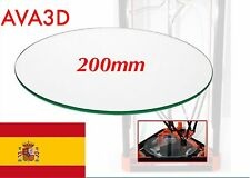 Cristal Glass 200mm (20cm)  Rostock Kossel Reprap Impresora 3D Heatbed Cam. Cal.