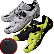 CARBON FIBRE CYCLING shoes ROAD RACE 3 Bolt CLEAT Shimano system DIAL CLOSE