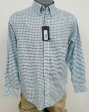Roundtree Yorke Gold Label Mint Green Checked L/S Men's Shirt M NWT $69.50
