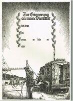 """WW 2  + Urkunde Nachrichtentruppe """"Zur Erinnerung an meine Dienstzeit"""""""