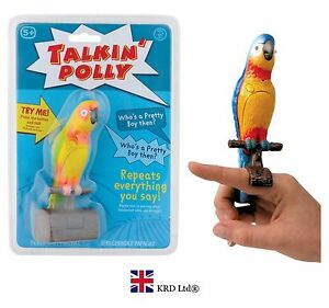 TALKING POLLY Speaking Parrot Bird Toy RECORDS & REPEATS Kids Fun Novelty Gift