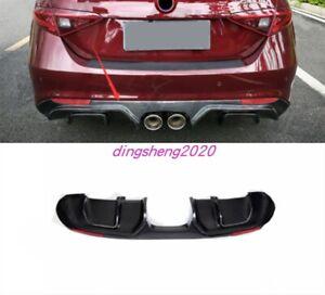 Real Carbon Fiber Exterior Bumper Rear Board Guard For Alfa Romeo Stelvio 17-20