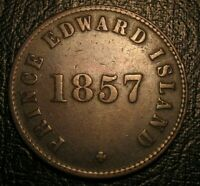 OLD CANADIAN TOKENS COINS 1857 PEI TOKEN Breton 919
