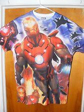 NEW MARVEL AVENGERS Comics Iron Man Tony Stark Sublimated Shirt - LARGE - A35