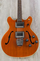 Guild Starfire Bass II Semi-Hollow 4-String Electric Bass Natural with Case