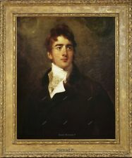 """Old Master Art Portrait Man Thomas Lawrence Oil Painting Unframed 24""""x30"""""""