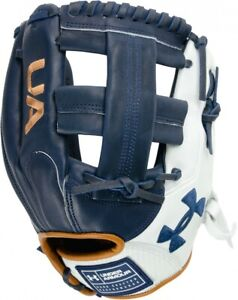 UA Genuine Pro 2.0 Fielding Glove 11.75in UAFGGP2-1175SP-Navy/WH/Carmel - RHT