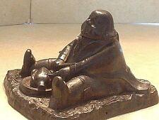 Antique Cast Iron Daniel Lambert Figural Inkwell