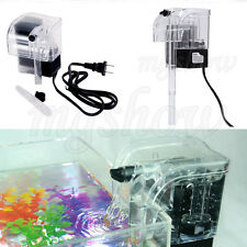 250L/H Mini Aquarium Power Filter Waterfall Pump Fish Tank External 3W Adapter