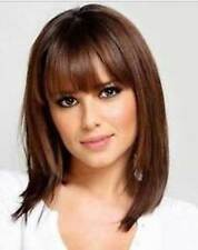 LMJF67 new medium charming brown straight health hair wig wigs for women