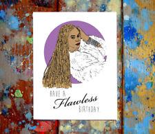 Beyonce Happy Birthday Greeting Card, Lemonade, Flawless, Slay, Feminist