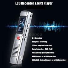 8GB Rechargeable Digital Sound Voice Recorder Dictaphone MP3 Music Player Record