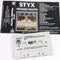STYX PARADISE THEATER 1980 CASSETTE TAPE ALBUM POP ROCK PROG