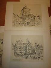 Aus Württemberg Zweite Folge Kunstdrucke Städte gezeichnet Otto Breitling