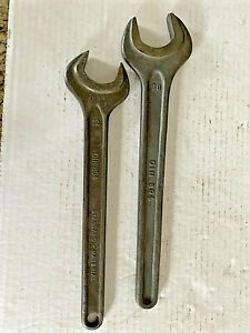 2 OPEN END MACHINIST WRENCHES DIN 894 38mm & 32mm Metric