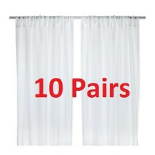 5 Pairs of IKEA TERESIA Window Door Sheer Curtains 145 (W) x 250 (L) cm in White