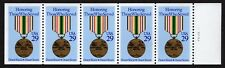 USA, SCOTT # 2485A, UNFOLDED BOOKLET PANE OF 5 HONORING THOSE WHO SERVED, MEDAL