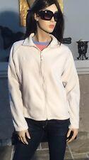 COLUMBIA Fleece Jacket White Cream Full Zip Women's Size Medium (T181)