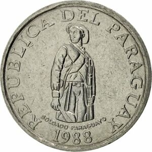 [#425133] Paraguay, Guarani, 1988, AU(55-58), Stainless Steel, KM:165