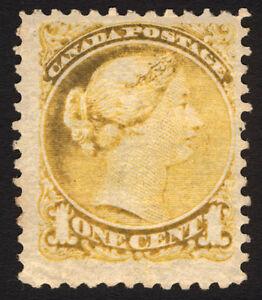 Canada #35 1c Yellow 1873 Queen Victoria VF