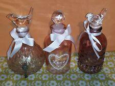 More details for x3 decorative glass bottles for oil, bubble bath etc. ornament decoration 6