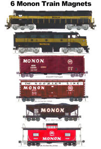 Monon Locomotives and Train 6 magnets Andy Fletcher