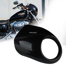 Black Scheinwerfer Lampenmaske Verkleidung Visor für Harley Dyna Sportster FX/XL