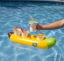 Dentone Gonfiabile Banana Boat Multi Bevande PISCINA GALLEGGIANTE SPIAGGIA VACANZA ACQUA
