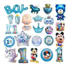 1st Geburtstag Helium Folien Ballon 1 Jahre alte Blau erste XXL Junge Party Tedy