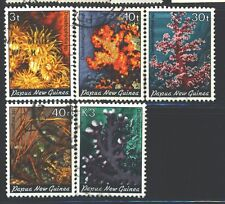 PAPUA NEW GUINEA 575-79 SG439,441,446,448,451 Used 1983 Corals set of 5 Cat$11