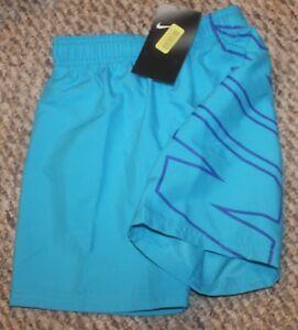 New! Boys Nike Breaker Volley Trunks/Boardies (Swim Shorts; Blue) Sizes 4, 5, 6