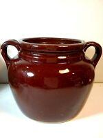 "Vintage Bean Pot Crock 8 1/4 """