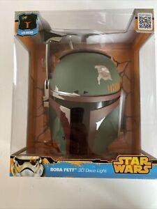 Star Wars Official Disney 3D Deco Wall Night Light Han Solo Boba Fett 2 Set Lot