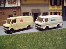Konvolut Transporter Medizin MB 207 D Apotheke + VW LT WERO 1:87 H0 WIKING K407
