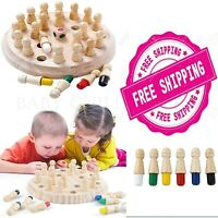 Wooden Memory Match Stick Chess Game Children Kids Puzzle Fun Toy Free SHIPPING
