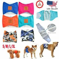 Male Dog Belly Band Wrap Diaper Underwear Panties Reuse Washable Potty Train Pet