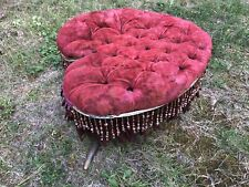 Rare Vintage Old Western Style Saloon Horn Footstool Bench - Foot Stool Brothel