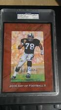 2016 HA Series2 Art of Football Goal Line ART SHELL RAIDERS HOF PSA 10 AUTO 5/6