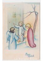 No Viaggiata Tarjeta Postal Baby por Navidad Vintage Jesús Niño Ángeles Lámpara