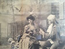 LARGE Antique Victorian Novelty Photo Portrait With Beautiful Filigree Frame!