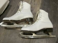 Ice skates womens size 7 1/2 Vintage White Leather Just Like Ridell