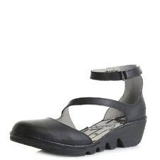 Velcro Wedge Leather Sandals & Flip Flops for Women