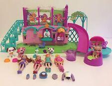 Polly Pocket Sparklin Pets Spa Dog and Cat Beauty Salon Toy Set Dolls Mattel