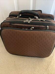 Joy Mangano Rolling Multi-function Travel Bag Laptop Clothing Briefcase